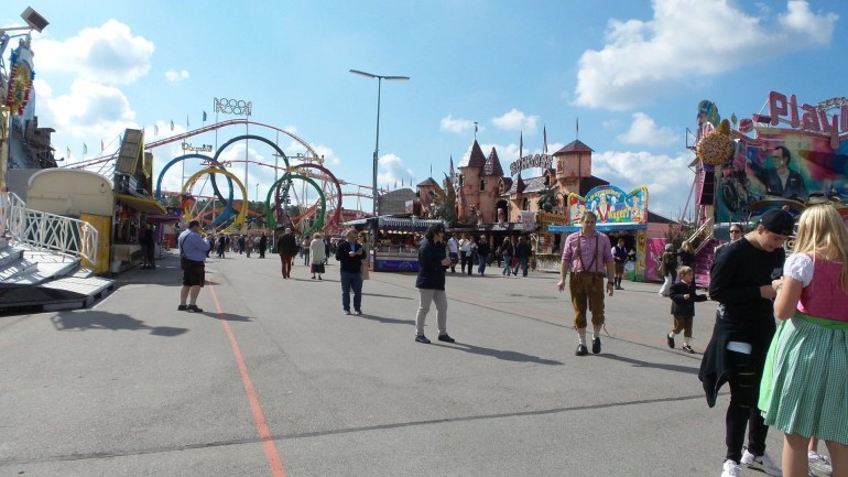 Amusement Park and Fun Rides at Oktoberfest Munich 2017