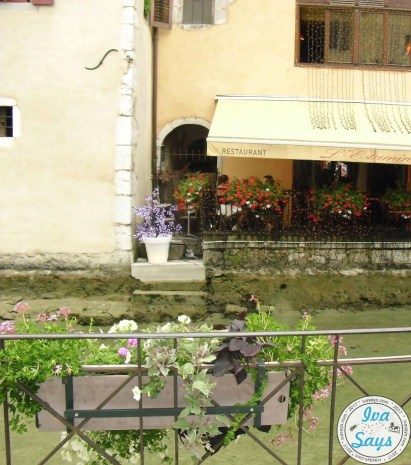 Beautiful flowers and decorations throughout Annecy