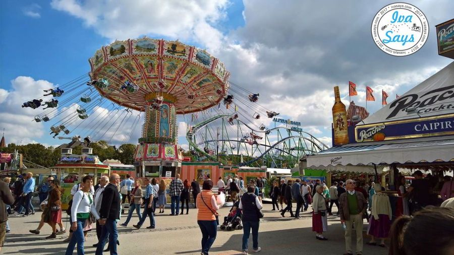 Ringispiel or Merry-Go-Round at Oktoberfest Munich 2017