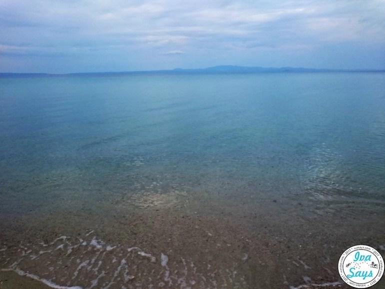 The crystal-clear sea at Pallini Beach Hotel