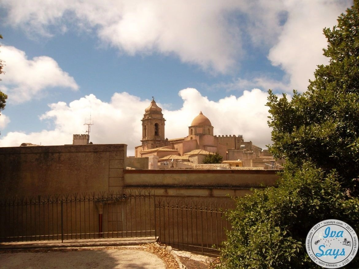 View to the Chiesa di San Giuliano in Erice on the island Sicily in Italy.