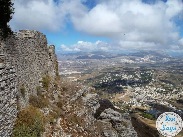 Walls from the Castle of Venus in Erice, Sicily