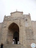 Entrance to the Real Duomo cathedral in Erice, Sicily.