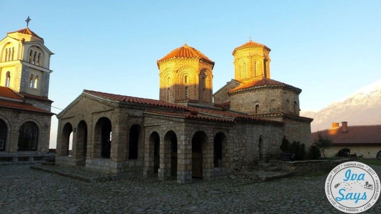 View of St. Naum's Monastery in the holy complex located in the National Reserve Park Galichica in Ohrid, Macedonia - built in the Byzantine era and same style architecture. #travel #monastery #history #culture