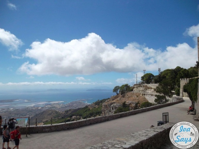 Walking up to the Castle of Venus in Erice through the Torretta Pepoli.