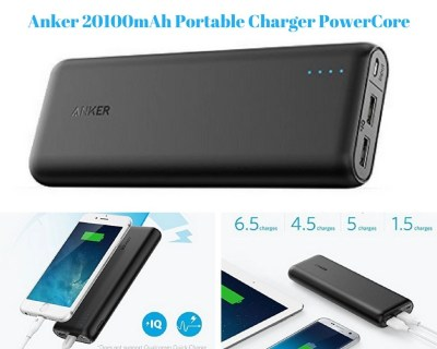 Anker 20100mAh Portable Charger PowerCore 20100 from Amazon.