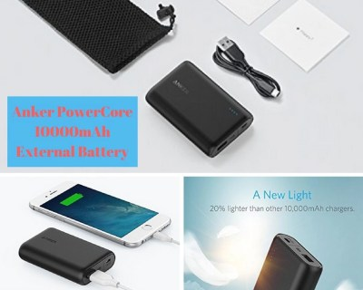 One of the Smallest and Lightest 10000mAh External Batteries from Amazon.com