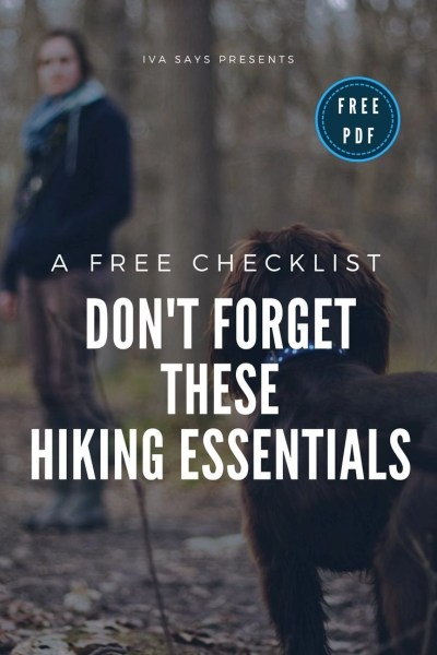 Free Hiking Essentials Checklist image for Pinterest