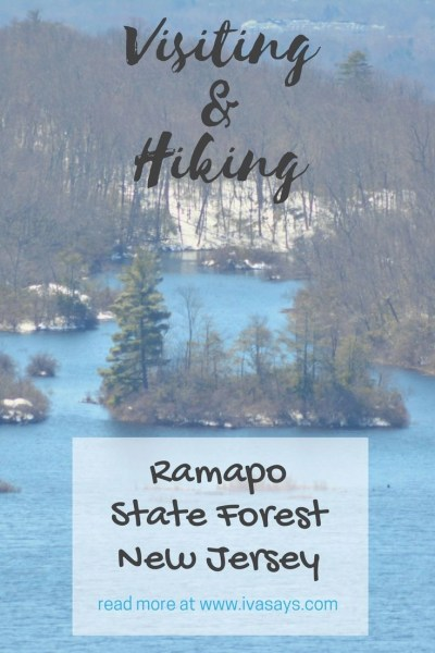 Visiting and Hiking in Ramapo Mountain State Forest for Pinterest.