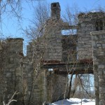 The ruins of Van Slyke Castle in Ramapo Mountain State Park, Oakland, New Jersey.