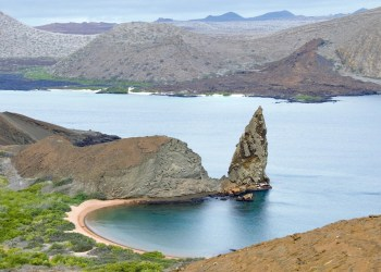 The volcanic islands also known as the Galapago Islands are one of the major tourist attractions to Ecuador.