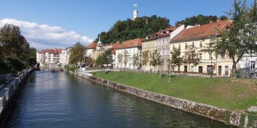 Buildings along the Ljubljanica River.