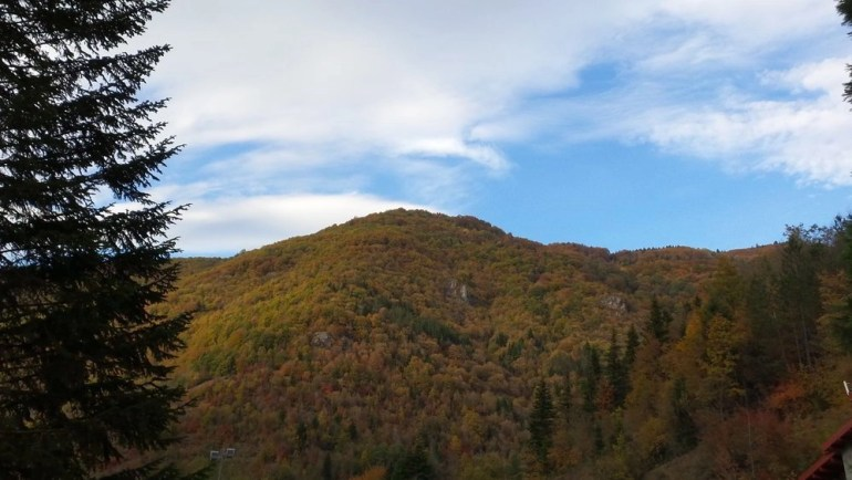 A mountain hill in the national park Mavrovo in Macedonia during autumn.