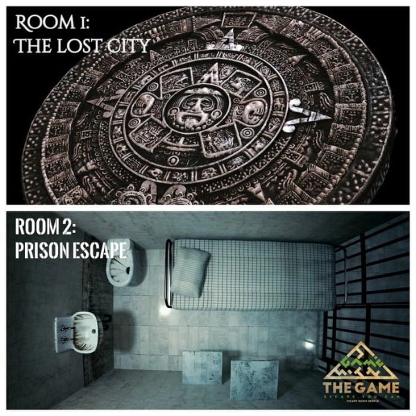 The lost city and prison break escape room.