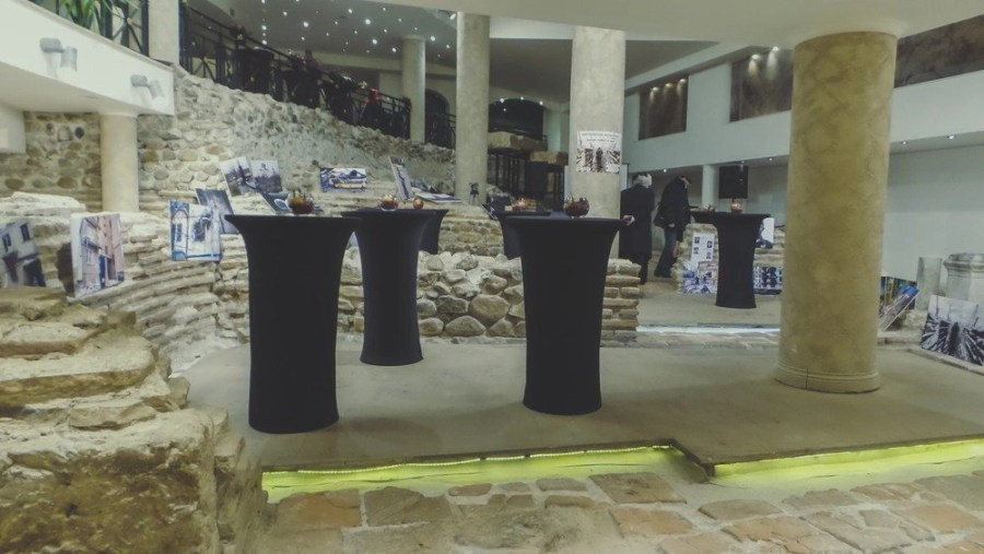 A war exhibit of victims in the Donbas killing in Ukraine held at the Serdica Amphitheater.
