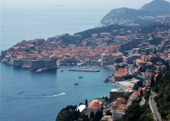 Dubrovnik, Croatia from Ariel VIew