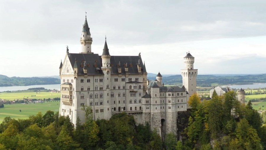 The Neuschwanstein castle in Germany.