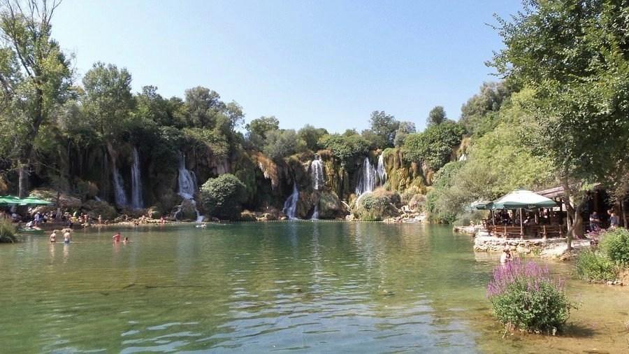 The Kravica falls in Bosnia