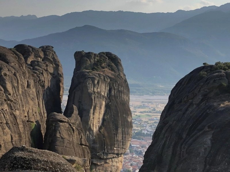 Meteora rock formations in Greece