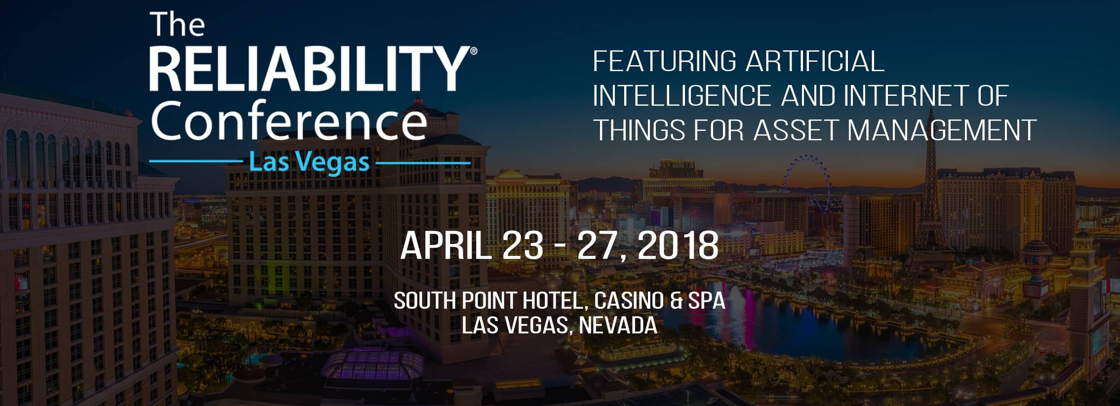 reliabilityConferenceEvent - The RELIABILITY®Conference Featuring Artificial Intelligence and Internet of Things for Asset Management