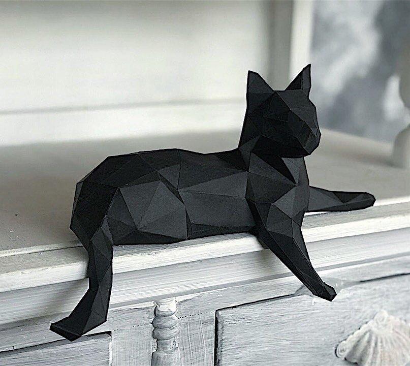 Figuri de hârtie poligonale 3D Fotografie de hârtie Decor