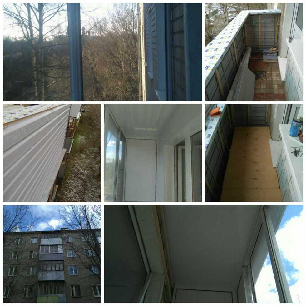 Остекление балкона отделка