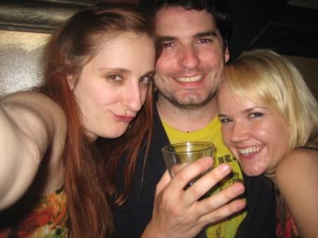 I've Got Munchies Producer, Sharon Jamilkowski with Tom Lorenzo of MORT and singer/songwriter Pamela Jones.