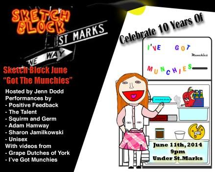 "Sketch Block NYC presents ""I've Got Munchies"" 10th Anniversary LIVE Show"