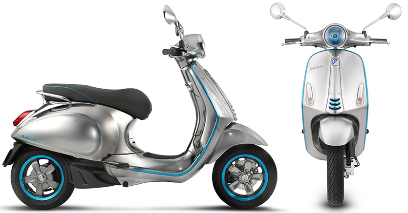 Vespa Electric Scooter >> Piaggio Presents Electric Vespa At Milan Show Ivespa