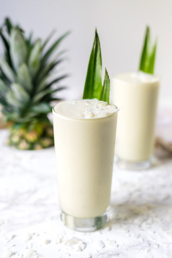 Healthy & Fresh 3 Ingredient Pina Colada's