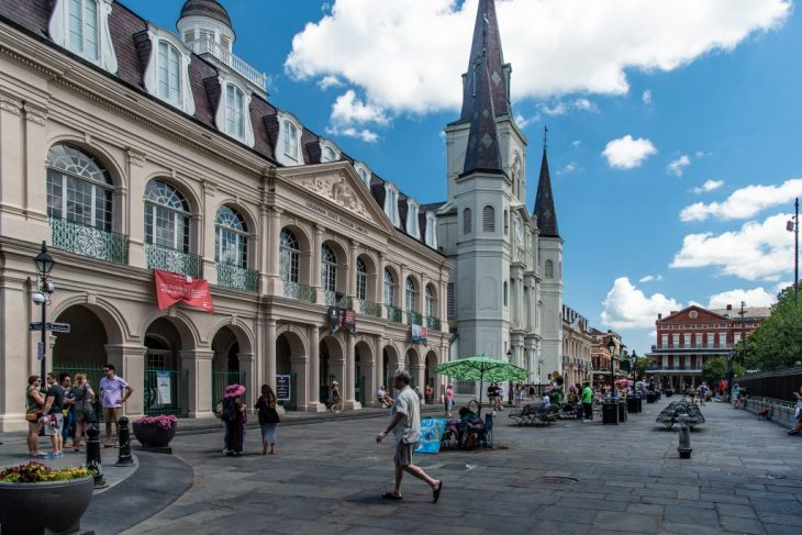 St Louis Cathedral, la cattedrale di New Orleans in Jackson Square