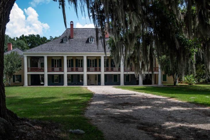 la facciata della Destrehan Plantation