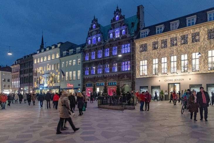 Gammertorv Place, il palazzo illuminato della Royal Copenaghen