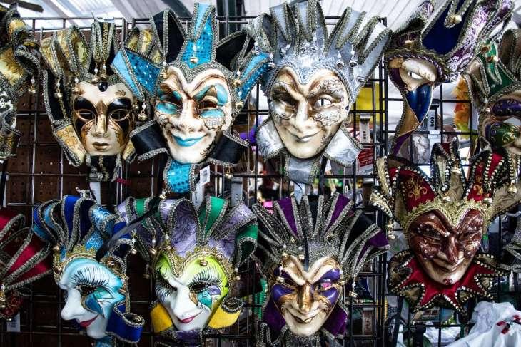 maschere del Carnevale di New Orleans