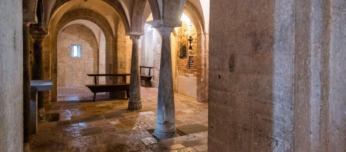 Spoleto la cripta di San Ponziano