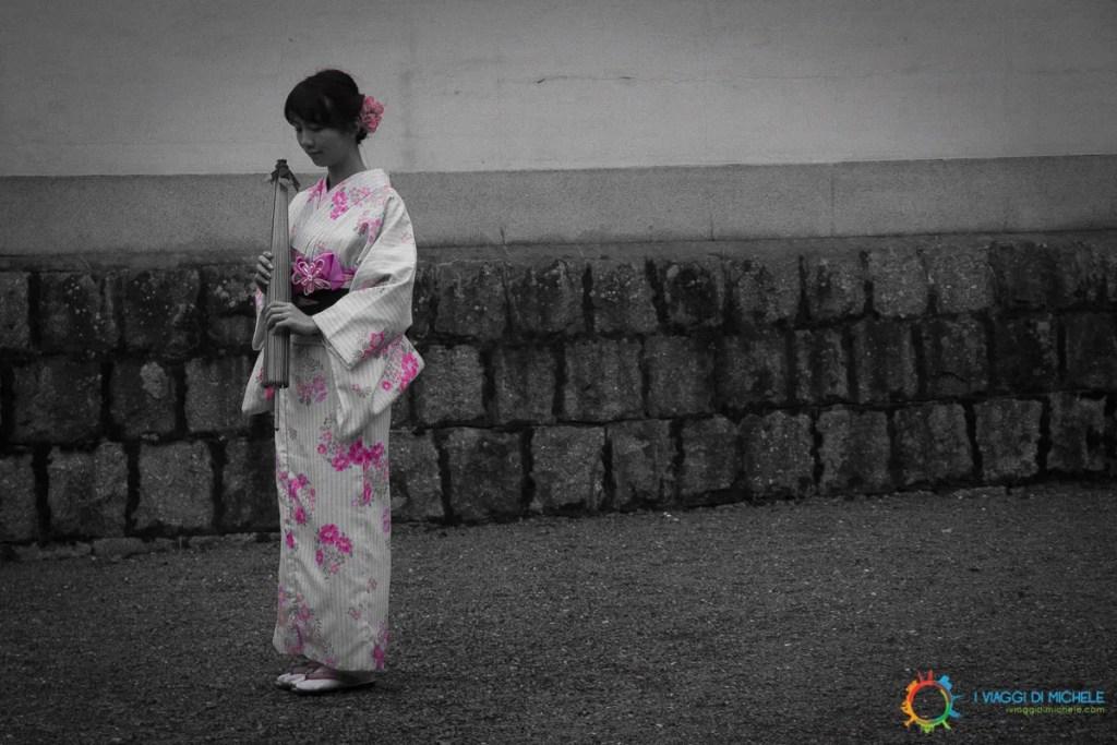 Kyoto - Il Rosa in evidenza ricorda il tema del reportage - La Fioritura dei Ciliegi - Fotografia di Viaggio