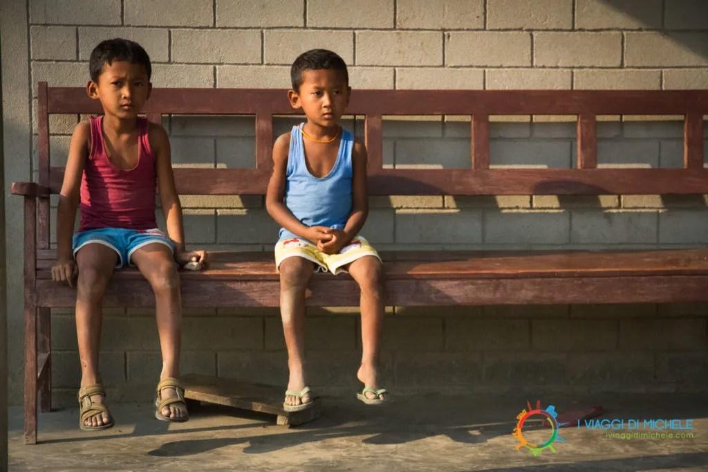 Due bambini del villaggio - Chitwan National Park