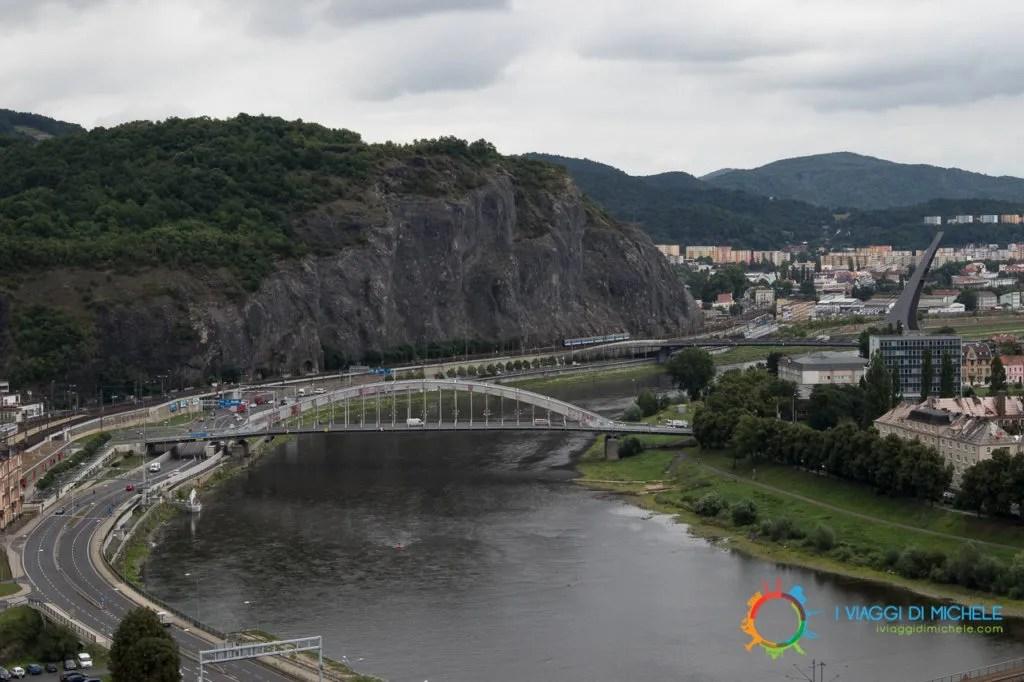 Vista dall'alto di Ústí