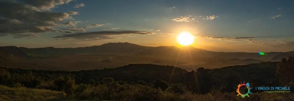Tramonto al Cratere NgoroNgoro