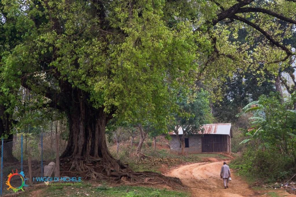 Un villaggio rurale durane la salita