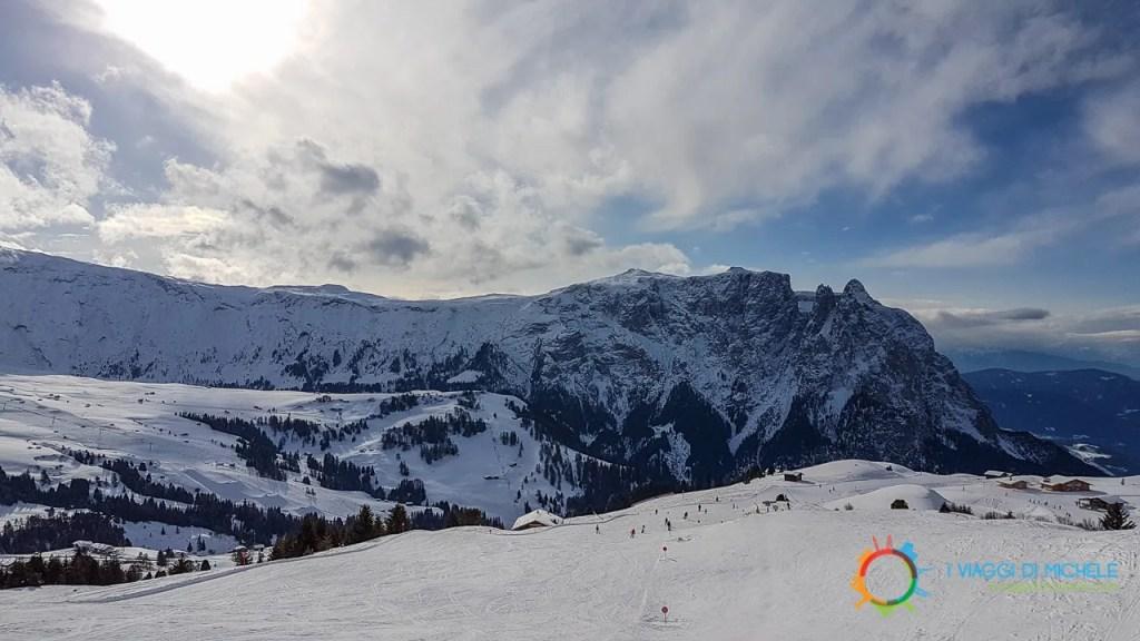 Il Massiccio dello Sciliar visto dalla Bullaccia - Sciare all'Alpe di Siusi
