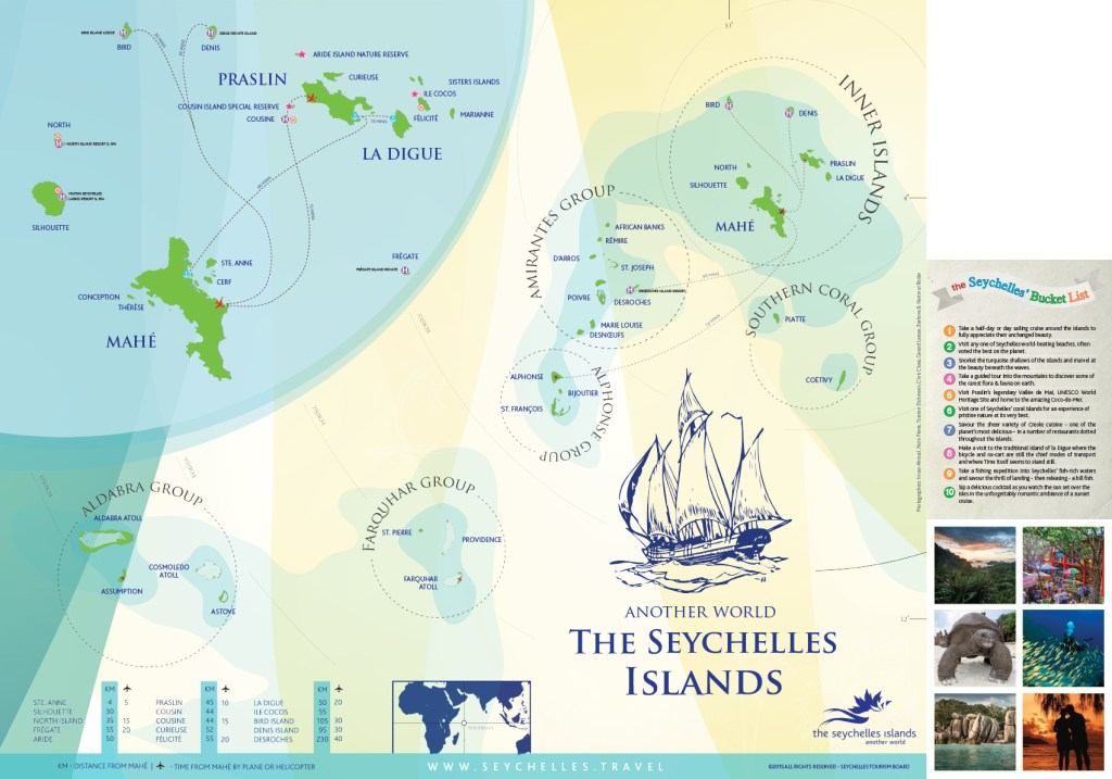 Mappa Seychelles lato 2