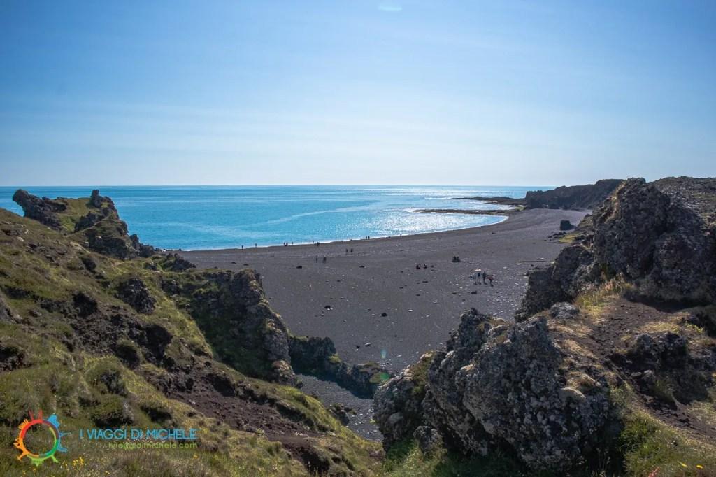 Spiaggia nera di Djúpalón - Penisola di Snæfellsnes