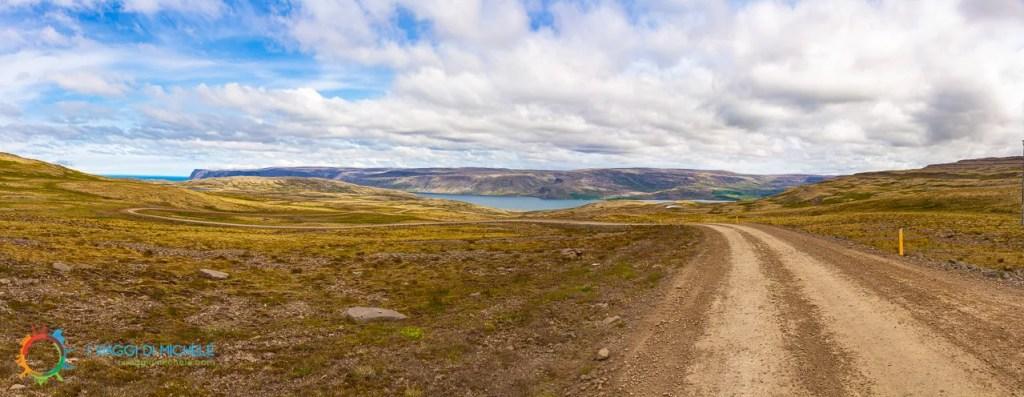 Strada 614 prima della discesa - Fiordi Occidentali Islandesi