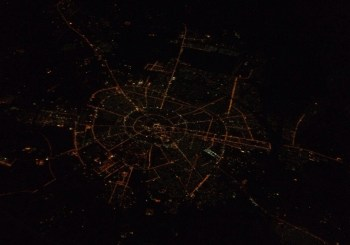 Vista dall'aereo con Emirates
