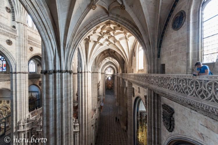 L'interno della Cattedrale di Salamanca - Vista dall'alto