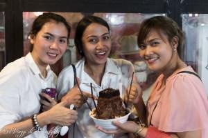 pangjen con le amiche Bangkok