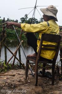 Hue nei dintorni pescatore