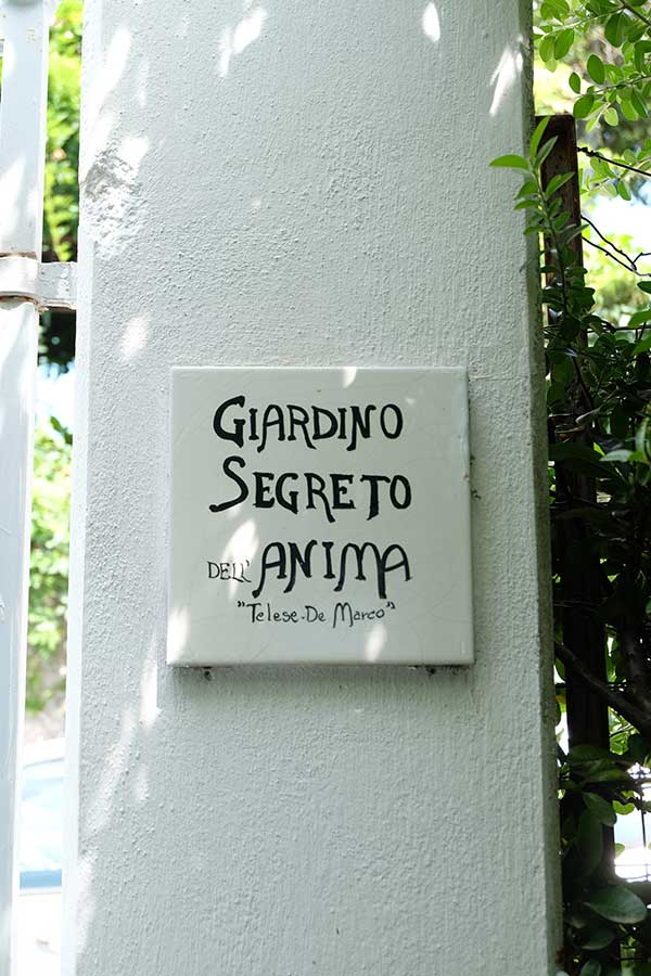ingresso giardino segreto dell'anima