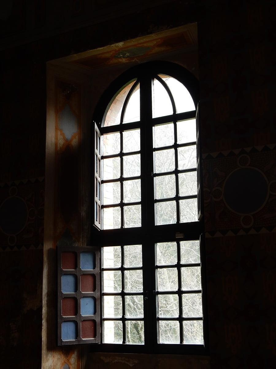 gli interni di Villa d'Ayala